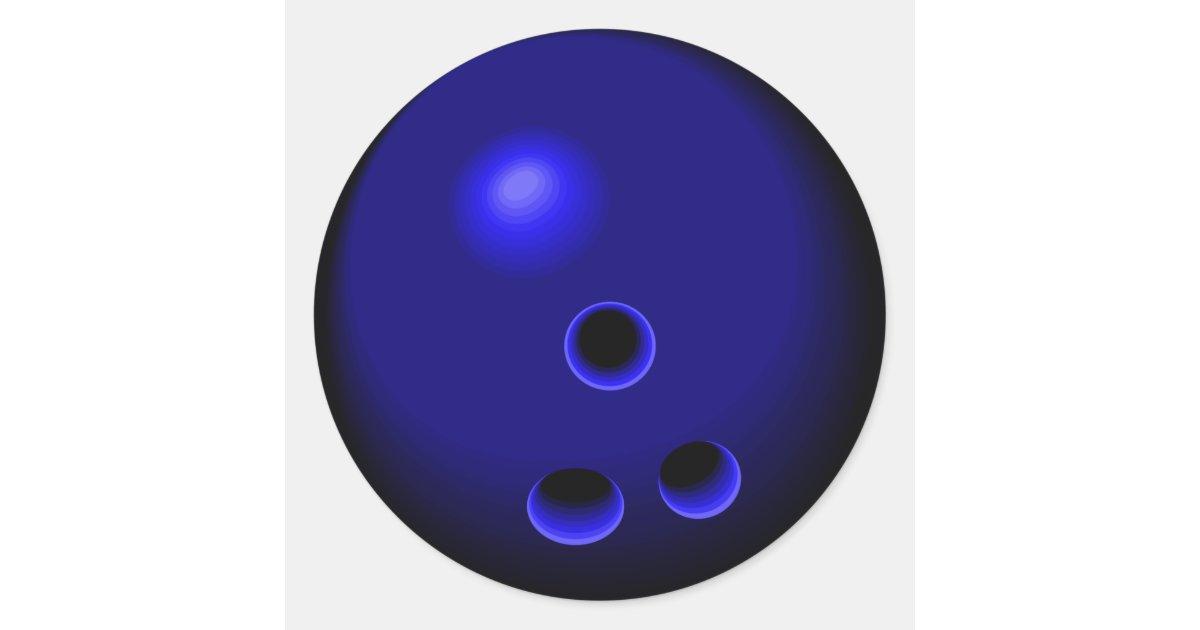 Dessin bleu de boule de bowling sticker rond zazzle - Bowling dessin ...