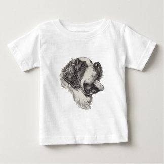 Dessin classique de portrait de chien de St T-shirt Pour Bébé