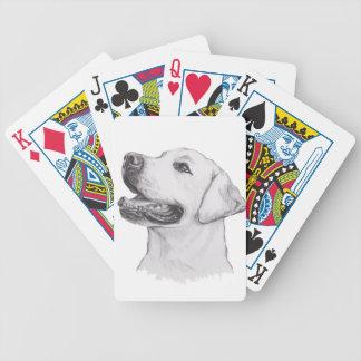Dessin classique de profil de chien de labrador jeux de cartes