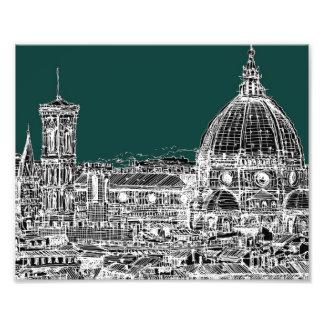 Dessin d'architecture de Florence Photo D'art