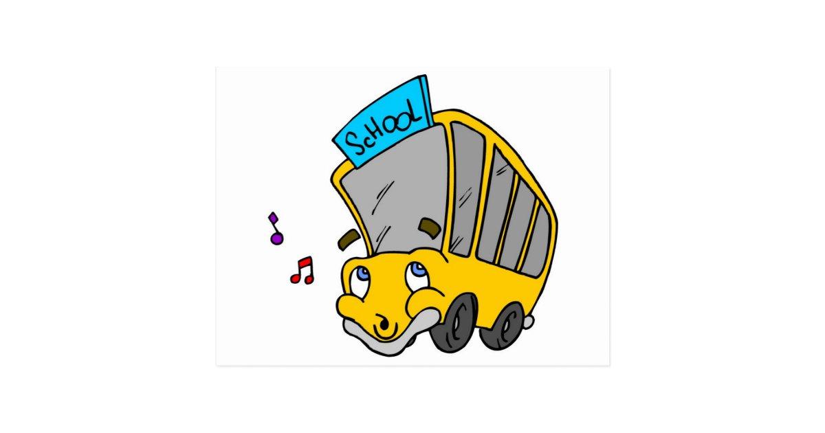 Dessin d 39 autobus scolaire carte postale zazzle - Autobus scolaire dessin ...