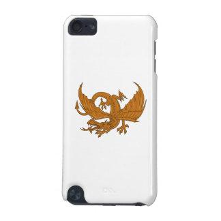 Dessin de acroupissement de dragon agressif coque iPod touch 5G
