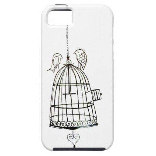 dessin de cage oiseaux coque iphone 5 zazzle. Black Bedroom Furniture Sets. Home Design Ideas