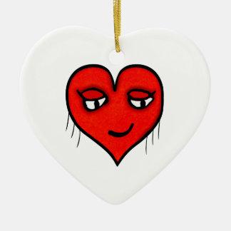 Dessin de caractère de coeur ornement cœur en céramique