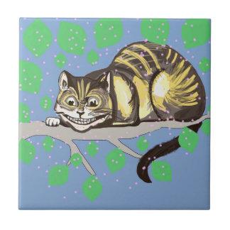Dessin de chat de Cheshire Carreau