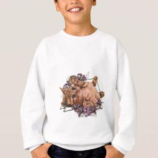 Dessin de chaton comme chat avec de la ficelle et sweatshirt