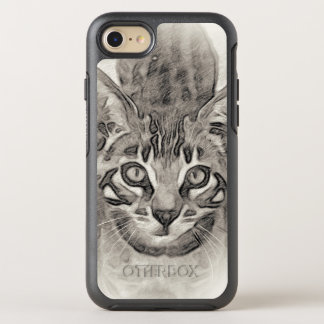Dessin de chaton du Bengale Coque OtterBox Symmetry iPhone 8/7
