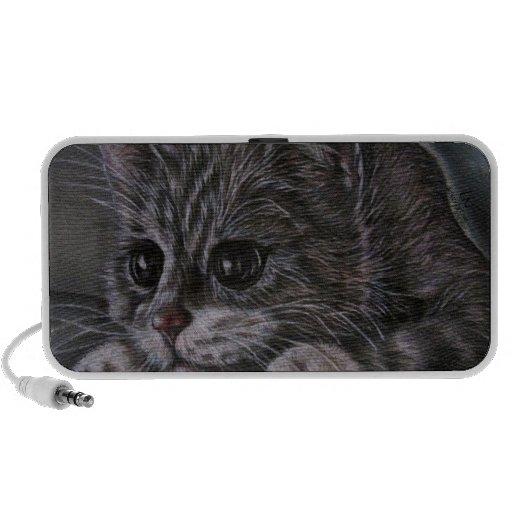 Dessin de chaton sur le haut-parleur