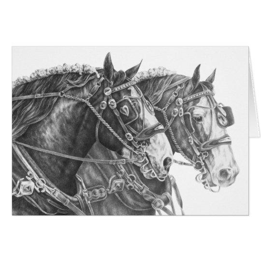 Dessin de cheval de trait de clydesdale par le cyg carte - Dessin cheval de trait ...