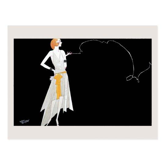 Dessin de fille d 39 aileron de mode des ann es 1920 cartes - Dessin de fille de mode ...