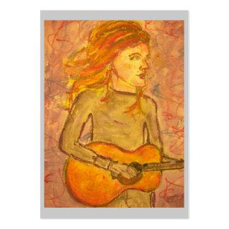 dessin de guitare acoustique cartes de visite professionnelles
