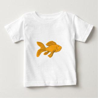 Dessin de natation de Koi de papillon d'or T-shirt Pour Bébé