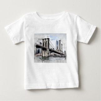 Dessin de pont de Brooklyn T-shirt Pour Bébé