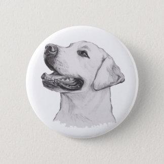 Dessin de portrait de chien de labrador retriever badges