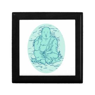 Dessin de pose de Gautama Buddha Lotus Boîte À Souvenirs