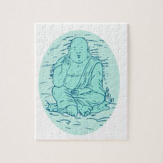 Dessin de pose de Gautama Buddha Lotus Puzzle