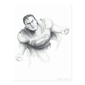 Dessin de Superman Carte Postale