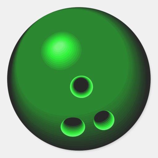 Dessin de vert de boule de bowling sticker rond zazzle - Bowling dessin ...