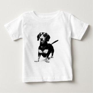 Dessin d'encre de teckel t-shirt pour bébé