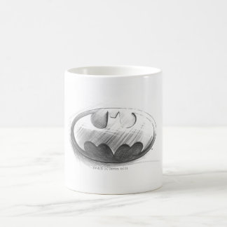 Dessin d'insignes de Batman Mug Blanc
