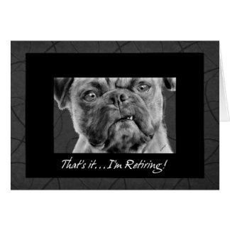 Dessin drôle de chien de carlin de faire-part de carte de vœux