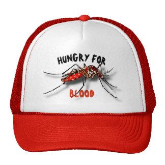 Dessin drôle noir rouge frais de moustique casquettes