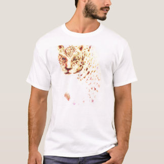 Dessin féroce puissant sauvage de guépard t-shirt