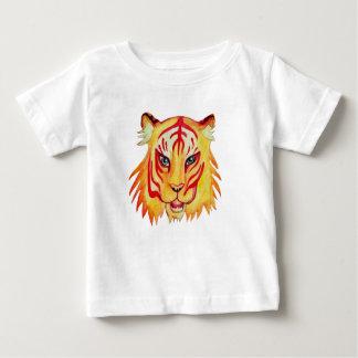 Dessin fin de tigre de T-shirt du Jersey de bébé
