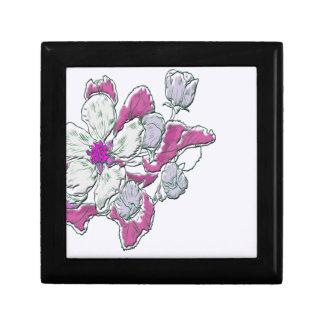 Dessin floral boîte à souvenirs