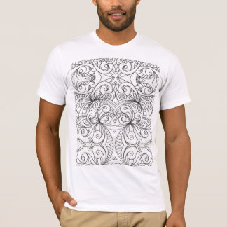 Dessin floral de griffonnage de T-shirt