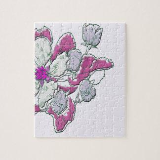 Dessin floral puzzle