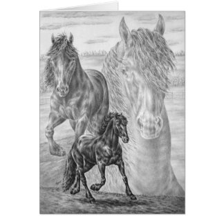 Dessin frison de cheval par le cygne de Kelli Cartes