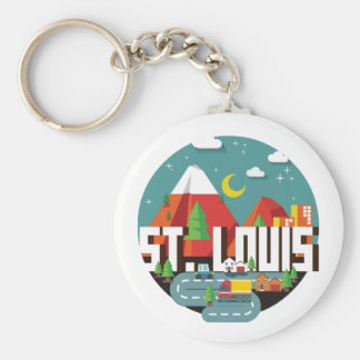 Dessin géométrique de St Louis, Missouri Porte-clés