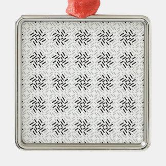 Dessin géométrique gris, blanc et noir ornement carré argenté