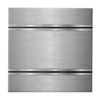 Dessin géométrique métallique gris carreau