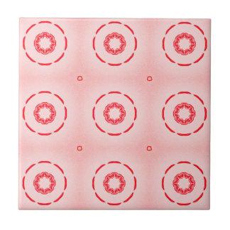 Dessin géométrique rouge et rose carreau
