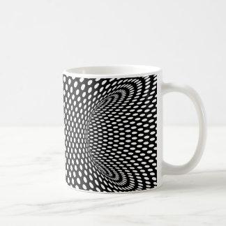 Dessin géométrique spatial d'illusion optique mug