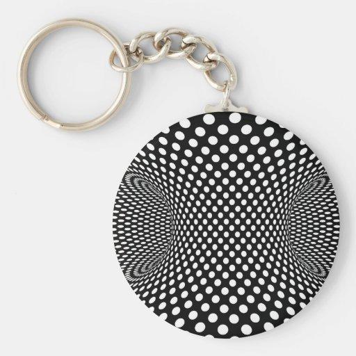 Dessin g om trique spatial d 39 illusion optique porte cl rond zazzle - Illusion optique dessin ...