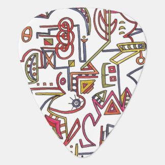 Dessin lunatique Art-Géométrique moderne d'encre Onglet De Guitare