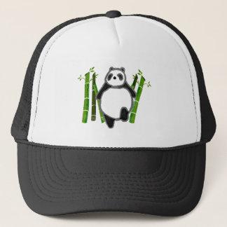 Dessin mignon d'encre de panda casquette
