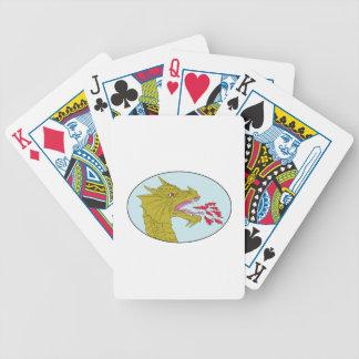 Dessin ovale de respiration principal du feu de jeux de cartes