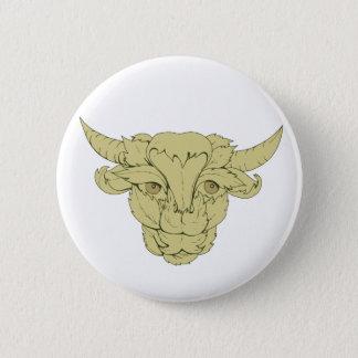 Dessin vert de vache à Taureau Badge