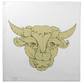 Dessin vert de vache à Taureau Serviettes De Table