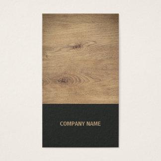 Dessinateur d'intérieurs noir en bois élégant cartes de visite