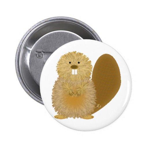 Dessins animaux adorables : Castor Badge Avec Épingle