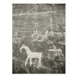 Dessins sur le mur de la caverne chez Canyon de Cartes Postales