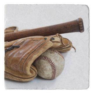 Dessous-de-plat Base-ball vintage et batte