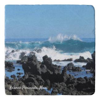 Dessous-de-plat Belles vagues dans le trépied en pierre de Maui