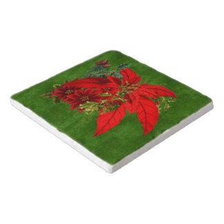 Dessous-de-plat Bouquet de poinsettia de Noël avec des vacances