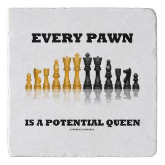 Dessous-de-plat Chaque gage est des échecs potentiels de la Reine